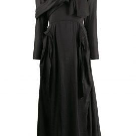 Prada deconstructed midi dress - Black
