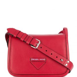 Prada foldover logo tote bag - Red