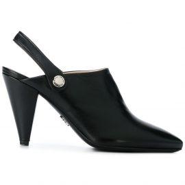 Prada pointed slingback mules - Black