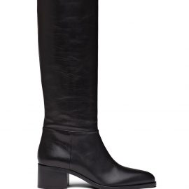 Prada pointed toe knee high boots - Black