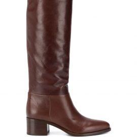 Prada pointed toe knee high boots - Brown