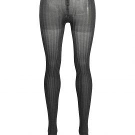 Prada stripe-detail silk tights - Grey
