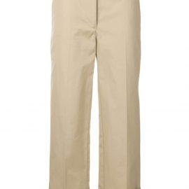 Prada wide-leg tailored trousers - Neutrals