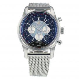 Pre-Owned Breitling Transocean Unitime Mens Watch AB0510U4/BB6215