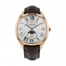 Pre-Owned Cartier Drive De Moon Phases Mens Watch WGNM0008/3977