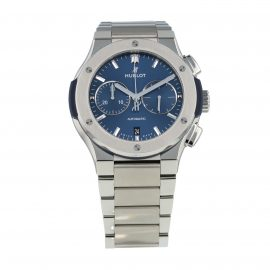 Pre-Owned Hublot Classic Fusion Blue Titanium Mens Watch 540.NX.7170.NX