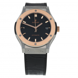 Pre-Owned Hublot Classic Fusion King Gold Mens Watch 511.NO.1181.LR
