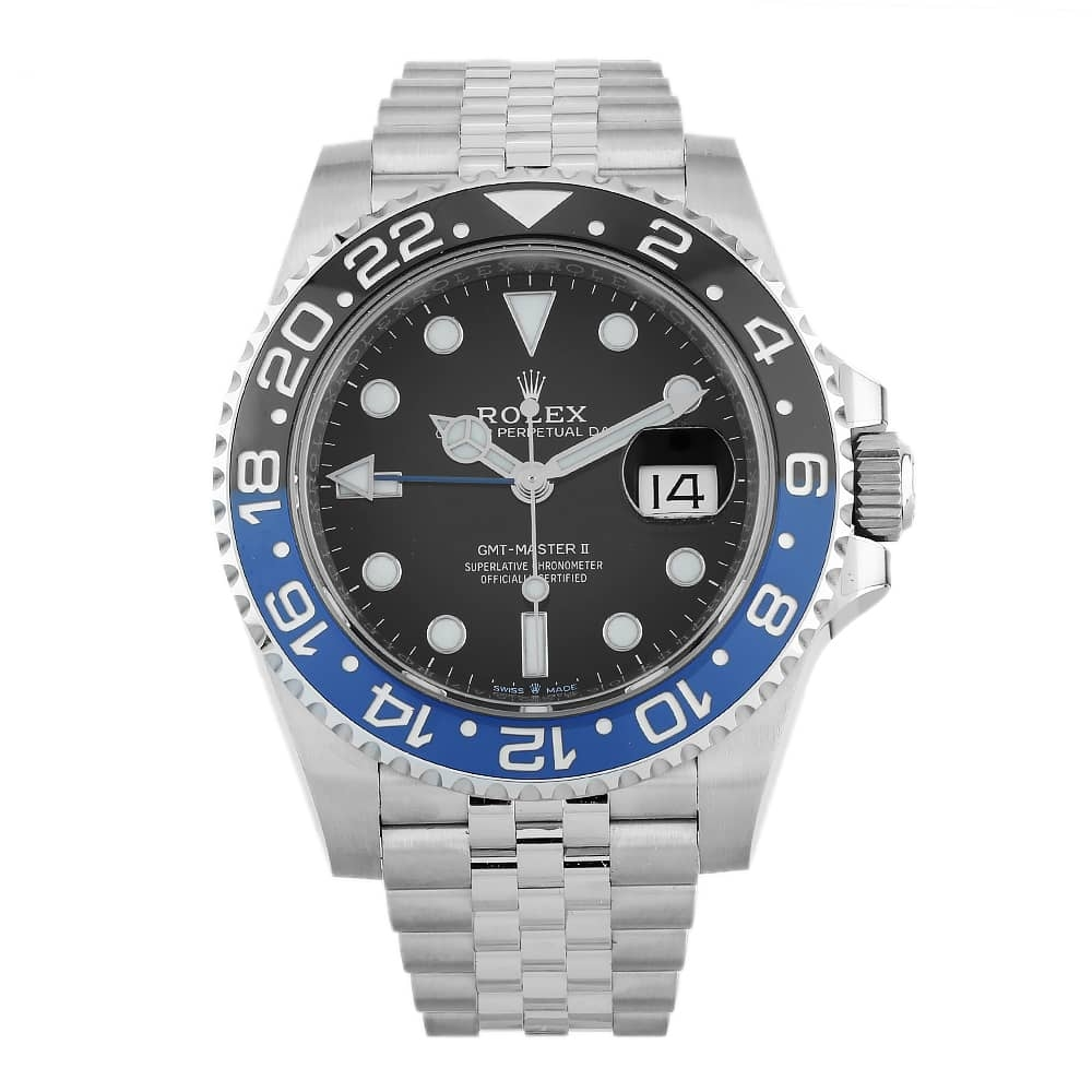 Pre-Owned Rolex Mens Oyster Perpetual Date GMT Master II Watch 126710BLNR