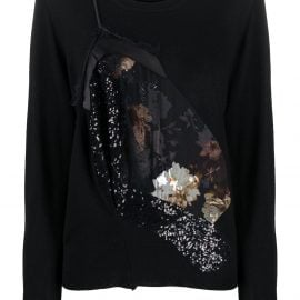 Preen By Thornton Bregazzi Peggy Bloom reconstructed sweater - Black