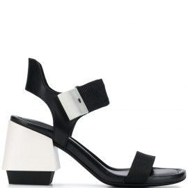 Premiata block heel touch-strap sandals - Black