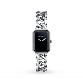Premiere Steel and Onyx Watch