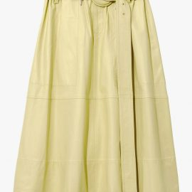 Proenza Schouler White Label Leather Belted Skirt - Yellow