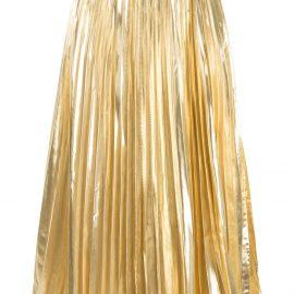 Proenza Schouler metallic pleated skirt - Gold