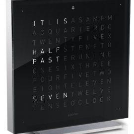 QLOCKTWO Touch Black Ice Tea Table Clock 13.5cm