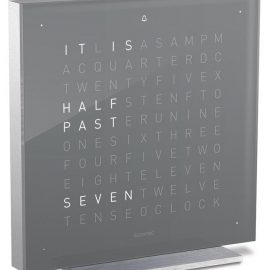 QLOCKTWO Touch Early Grey Tea Table Clock 13.5cm