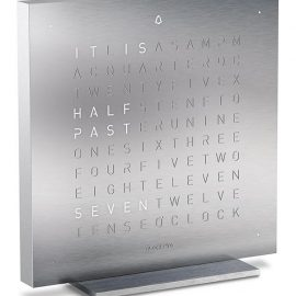 QLOCKTWO Touch Full Metal Table Clock 13.5cm