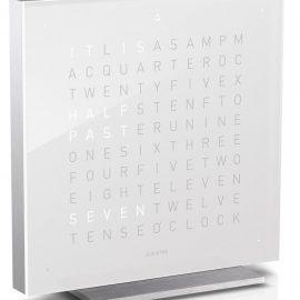 QLOCKTWO Touch Vanilla Sugar Table Clock 13.5cm
