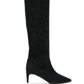 RED Valentino embellished knee high boots - Black