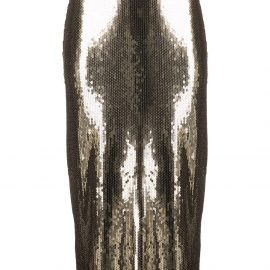 RED Valentino sequinned pencil skirt - GOLD