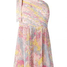 RED Valentino star print mini dress - PINK