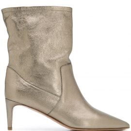 RED(V) pointed-toe ankle boots - GOLD
