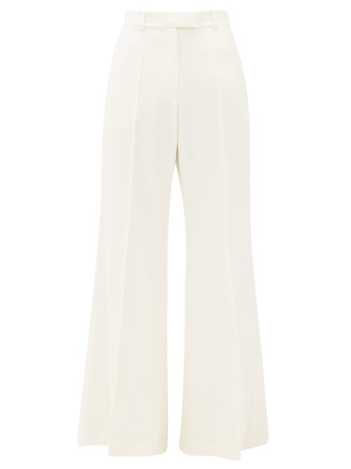 Racil - Lincoln Flared Wool-twill Trousers - Womens - Ivory