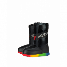 Rainbow Sole Snow Ankle Boots