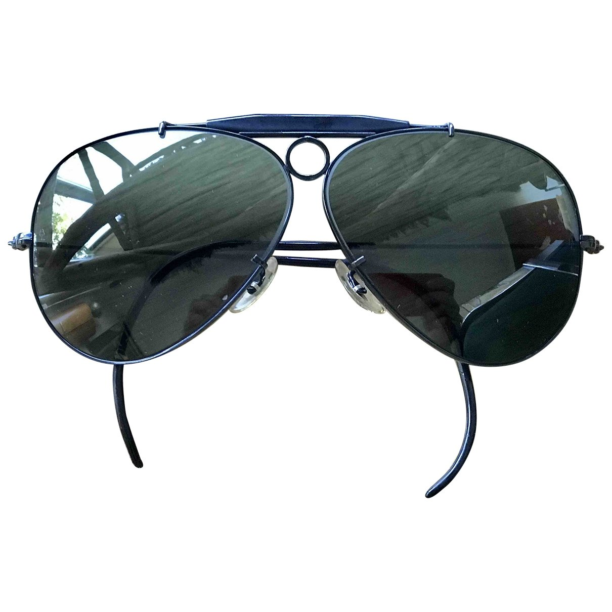 Ray-ban Aviator Black Metal Sunglasses for Men