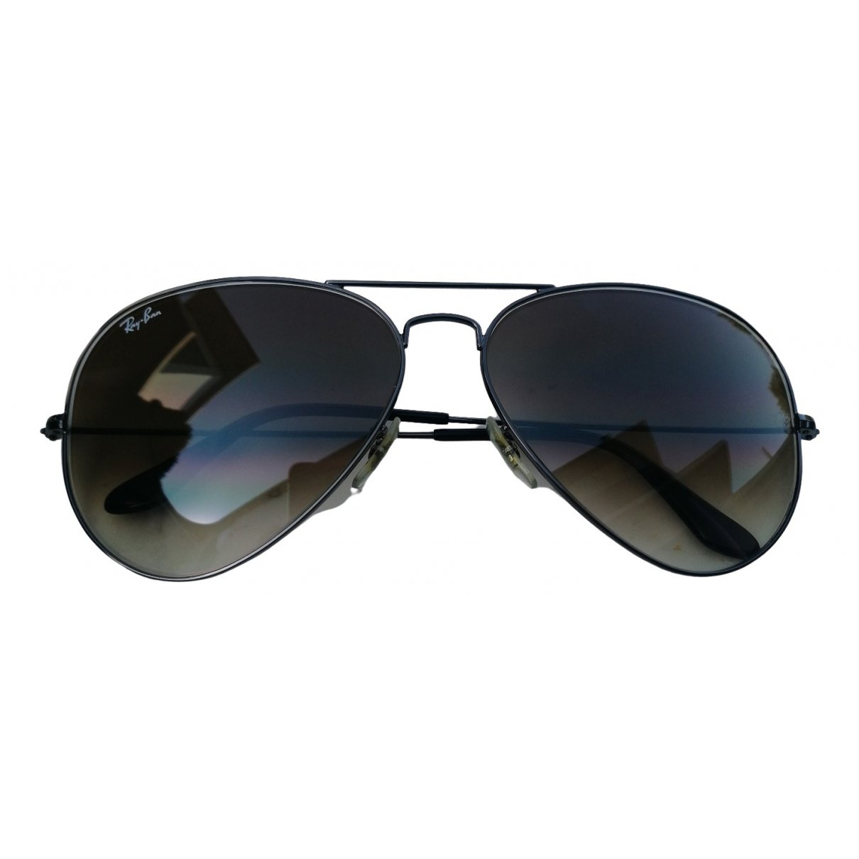 Ray-ban Aviator Brown Metal Sunglasses for Men