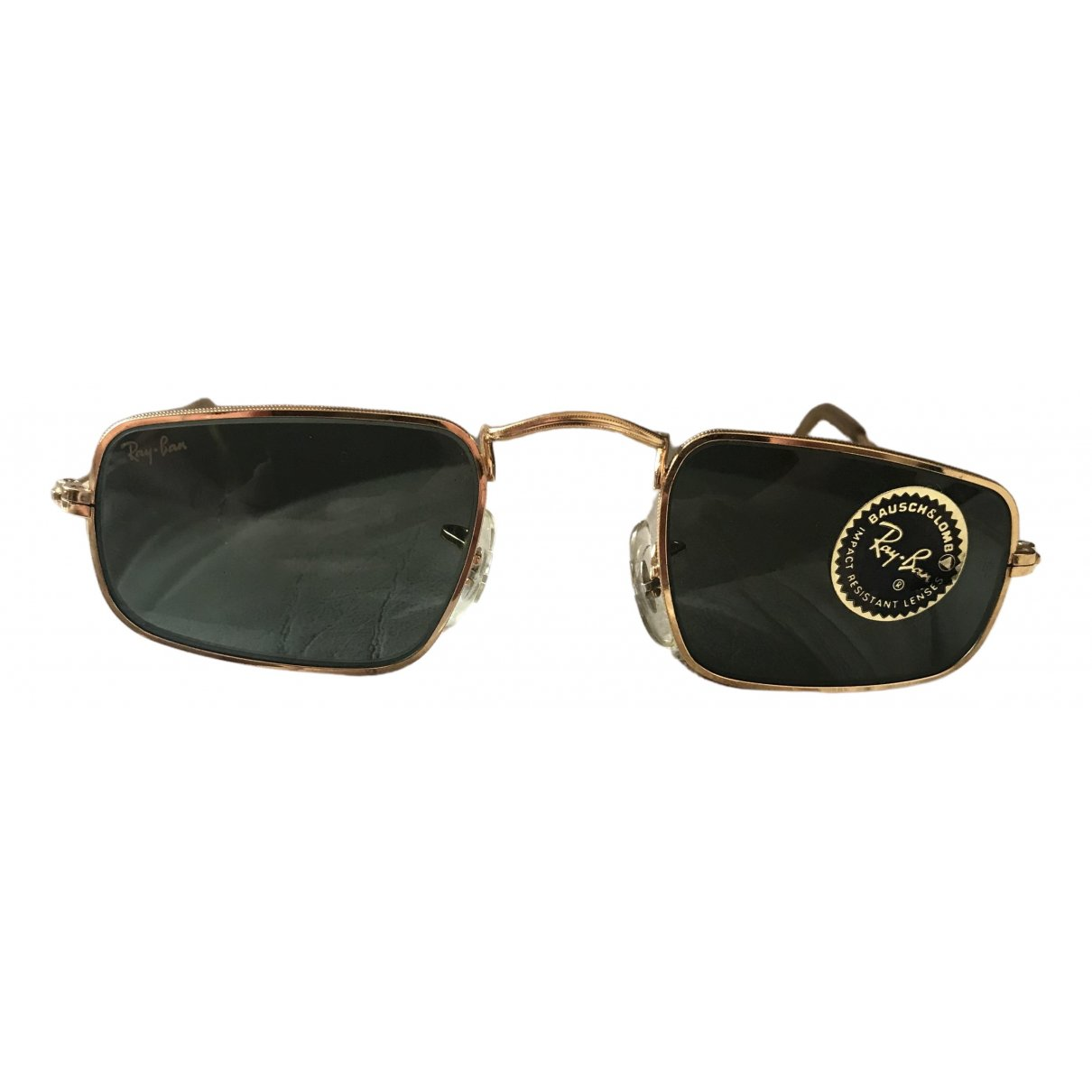 Ray-ban N Gold Metal Sunglasses for Men