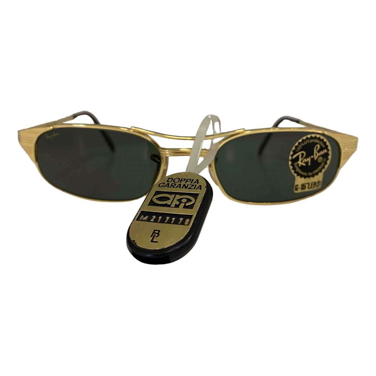 Ray-ban N Gold Metal Sunglasses for Women