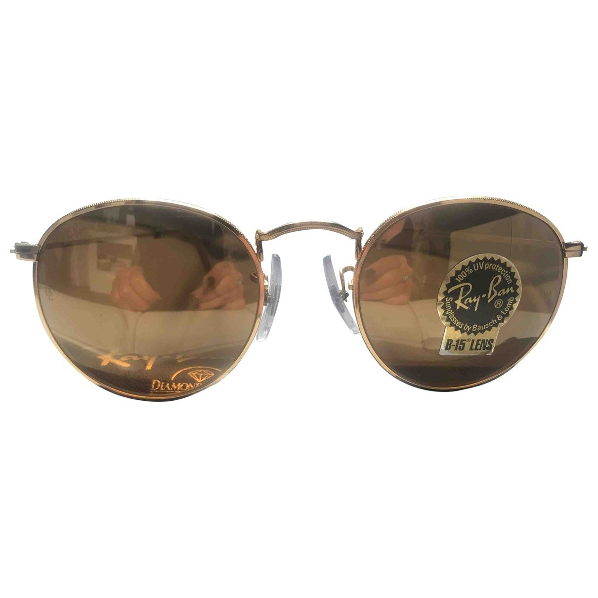 Ray-ban Round Gold Metal Sunglasses for Women