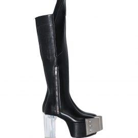Rick Owens Waders 125mm knee-high platform boots - Black