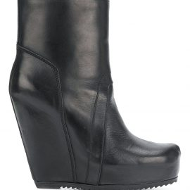 Rick Owens wedge boots - Black