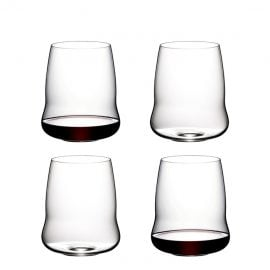 Riedel Stemless Wings Cabernet Sauvignon Glasses X 4 In 265 Years Gift Box