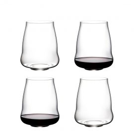Riedel Stemless Wings Pinot Noir/Nebbiolo Glasses X 4 In 265 Years Gift Box