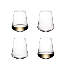 Riedel Stemless Wings Riesling/Champagne Glasses X 4 In 265 Years Gift Box