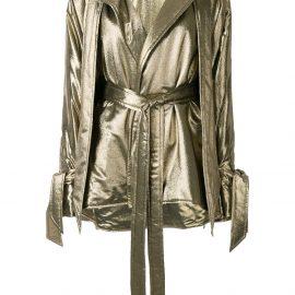 Roland Mouret Albertin lurex jacket - GOLD