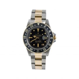 Rolex 1978 pre-owned GMT Master II 40mm - Black