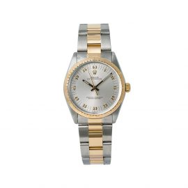 Rolex 1980s pre-owned Oyster Perpetual 34mm - Silver