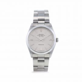 Rolex 1987 pre-owned Air-King 34mm - Silver