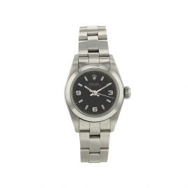 Rolex 1995 pre-owned Oyster Perpetual Lady 25mm - Black
