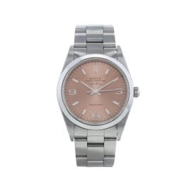 Rolex 1997 pre-owned Air-King Precision 34mm - Pink