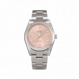 Rolex 1999 pre-owned Air-King Precision 34mm - Pink