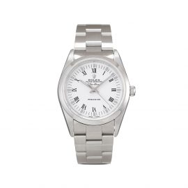 Rolex 2001 pre-owned Air-King 34mm - White