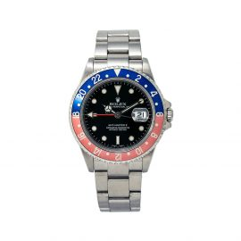 Rolex 2003 pre-owned GMT Master II 40mm - Black