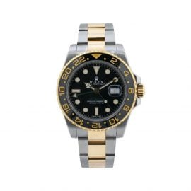 Rolex 2010 pre-owned GMT Master II 40mm - Black