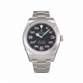 Rolex 2016 pre-owned Air-King 40mm - Black