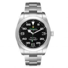 Rolex Black Stainless Steel Air King 116900 Men's Wristwatch 40 MM