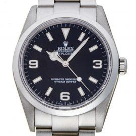 Rolex Black Stainless Steel Explorer I 114270 Men's Wristwatch 36 MM